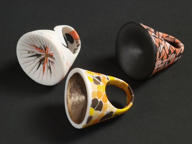 World Fabric Serie (Rings, pigment porcelain)