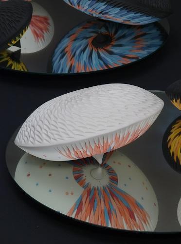 Vanitas Installation (Porcelain, mirrors)