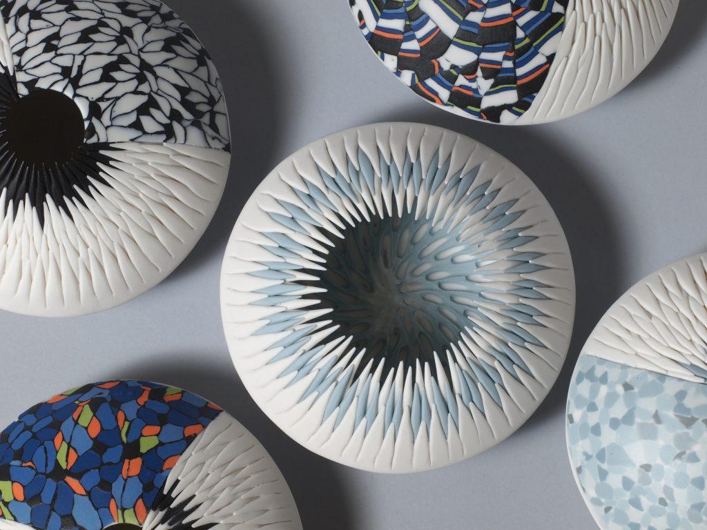 Sea Urchin (series Porcelain and Nerikomi)
