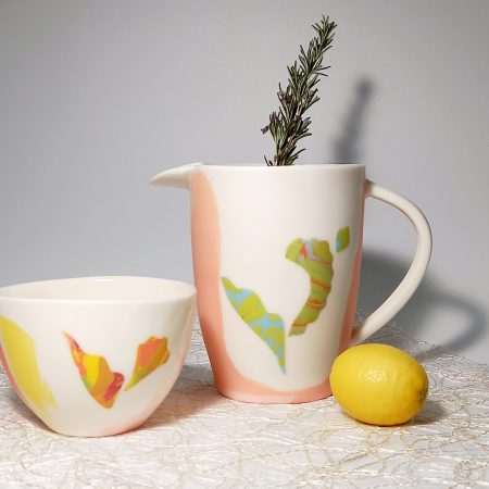 "Cup and jug ""Full color Tropical Collection"""
